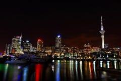 Ноча гавани Окленда Стоковые Изображения RF
