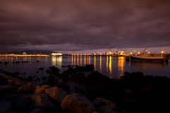 ноча гавани Стоковая Фотография RF