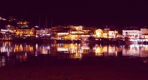 Ноча гавани Datca Стоковое Изображение