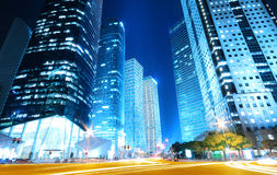 ноча голубых зданий мечтательная самомоднейшая Стоковое Изображение RF