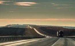 Ноча гонки длинного пути Стоковая Фотография