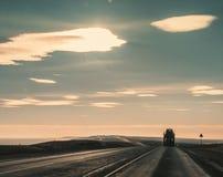 Ноча гонки длинного пути Стоковая Фотография RF