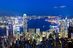 Ноча Гонконга Стоковые Изображения RF