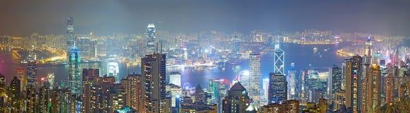 Ноча горизонта Гонконга Стоковое Фото