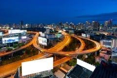 Ноча горизонта город Таиланда столичного городского пейзажа города Бангкока городского городского, Бангкока городского пейзажа Ба Стоковые Изображения