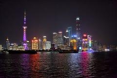 Ноча горизонта Шанхая стоковое изображение rf