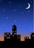 ноча городского пейзажа Стоковое Изображение RF