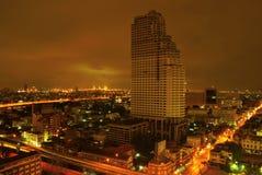 ноча городского пейзажа Стоковое фото RF