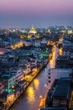 Ноча города Бангкока стоковая фотография