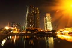 Ноча города Китая Чэнду Стоковые Фотографии RF