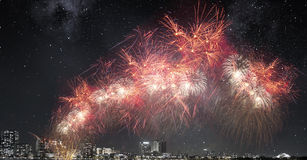 ноча города самомоднейшая Мультимедиа Стоковая Фотография