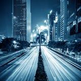 ноча города самомоднейшая стоковые изображения rf