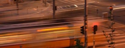 Ноча города светлая Стоковые Изображения
