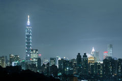 Ноча города Тайбэя Стоковое Изображение RF