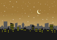 ноча города Стоковая Фотография RF
