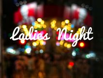 Ноча дам формулировок стоковые фотографии rf