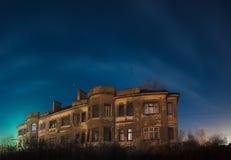 ноча дома старая Стоковое Изображение RF