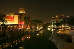 ноча Дубай Стоковые Изображения
