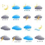 Ноча лета значка погоды установленная Стоковое Изображение