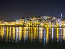 Ноча животиков Порту Ribeira Стоковое Изображение RF