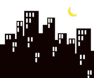 ноча жизни города Стоковое фото RF