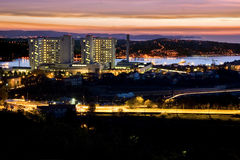 ноча залива Стоковые Фотографии RF