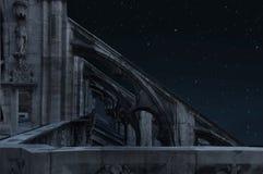 ноча замока Стоковое Изображение