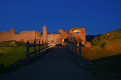 ноча замока Стоковая Фотография RF