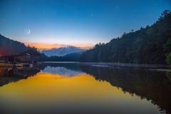 ноча звёздная стоковое изображение