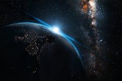 Ноча земли стоковое фото rf