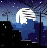 ноча зимняя Стоковая Фотография