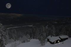 Ноча зимы в Telemark Норвегии Стоковая Фотография RF
