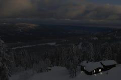 Ноча зимы в Telemark Норвегии Стоковое фото RF