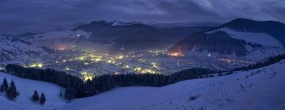 Ноча зимы Стоковое Изображение RF
