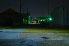ноча зоны промышленная Стоковая Фотография