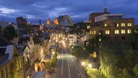 Ноча, здание города Сиднея стоковые фото