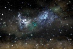 Ноча играет главные роли небо Стоковая Фотография