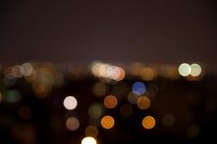 Ноча из светов конспекта города фокуса Стоковая Фотография RF