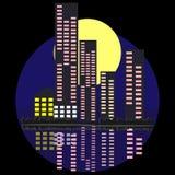 Ноча и город Стоковое Изображение RF