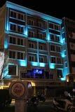 Ноча и улицы стоковое изображение