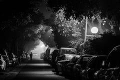 Ноча и улица города Стоковые Изображения RF