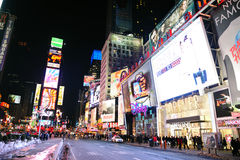 Ноча квадрата времени New York City Манхаттан стоковые фотографии rf