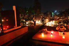 ноча кладбища стоковые изображения rf