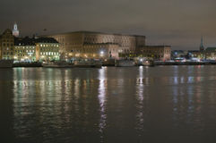 ноча королевский stockholm замока Стоковое Изображение RF