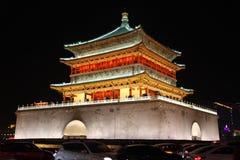 Ноча колокольни Xian Стоковые Фотографии RF