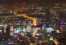 ноча Куала Лумпур Малайзии к взгляду стоковая фотография
