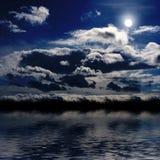 ноча ландшафта Стоковые Фотографии RF