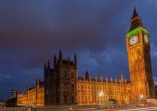 Ноча Лондон большого Бен Стоковые Фотографии RF