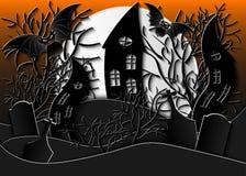 ноча луны иллюстрации halloween Стоковые Фото