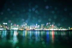 Ноча Манхаттана расплывчатая Стоковая Фотография RF